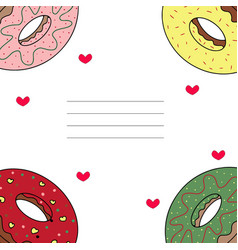 Card with donuts vector