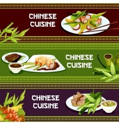Chinese cuisine restaurant menu banners vector