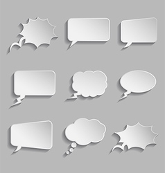 collection comic style thought bubbles - 3d vector image