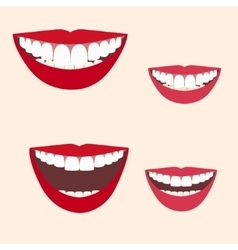 Collection of smiles vector image