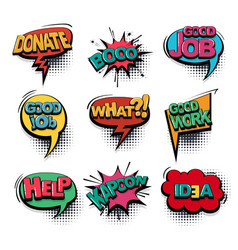 Comic text collection sound effects pop art style vector