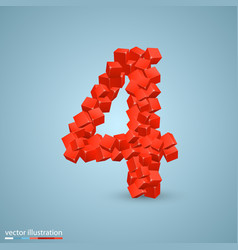 Cubes as a symbol font 4 vector
