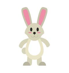 Cute bunny cartoon vector