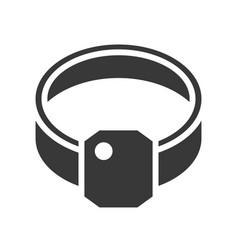diamond ring jewelry icon glyph style vector image