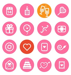 Different Valentines Day icons set vector