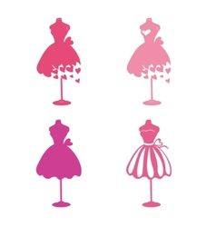 Dress mannequins vector
