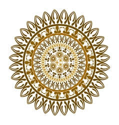 Ethnic round ornament vector