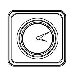 figure emblem clock icon vector image