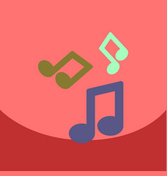 Flat icon design collection music note vector