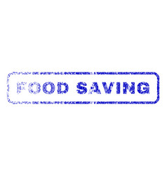 food saving rubber stamp vector image