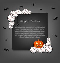frame halloween with baseball balls vector image