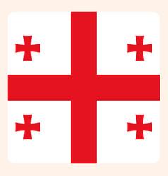 Georgia square flag button social media vector