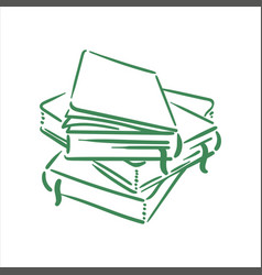 hand drawn sketch books on vector image