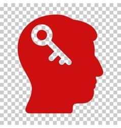Head Key Icon vector
