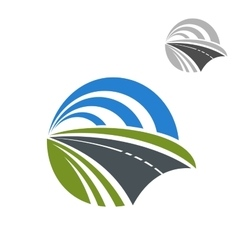 Icon of speedy road disappearing into the distance vector