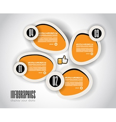 Infographics concept background to display vector image