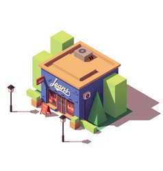 isometric jeans clothes store vector image