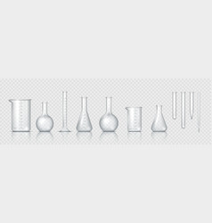 Laboratory glassware realistic lab beaker glass vector