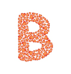 Letter b made of valentines vector