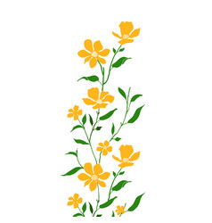 Limited colors floral vector