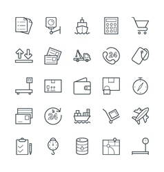 Logistic Delivery Cool Icons 2 vector image
