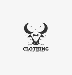logo clothe silhouette style vector image