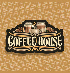 Logo for coffee house vector