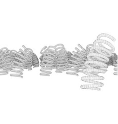 Many springs rendering of 3d vector