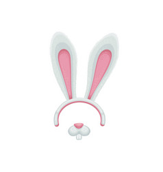 mask a hare or rabbit on head with ears vector image