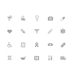 medical icons 32 pixels icons white series vector image
