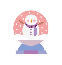 merry christmas celebration decorative snowman vector image