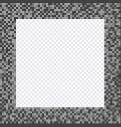 monochrome pixel frame borders vector image