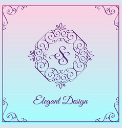 monogram design template vector image