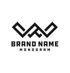 Monogram logo design letter w vector