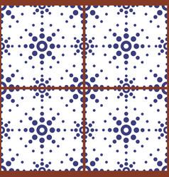 Moroccan geometric seamless tile pattern vector