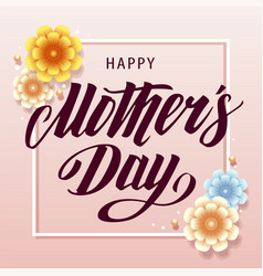 mothers day greeting cardretro design vector image