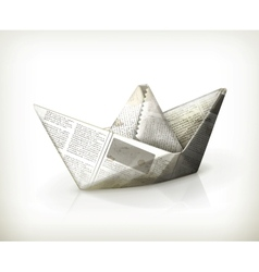 Paper boat vector image