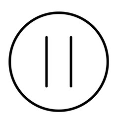 pause line icon vector image