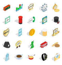 period icons set isometric style vector image