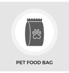 Pet food bag flat icon vector image