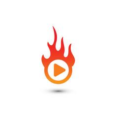 Play button multimedia logo graphic template vector