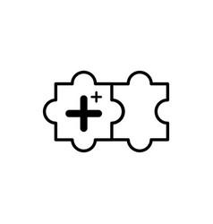 Pluss symbol add icon vector