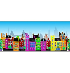 Seamless pattern of European city vector