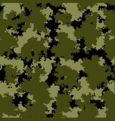 seamless pattern with forest camouflage colors vector image