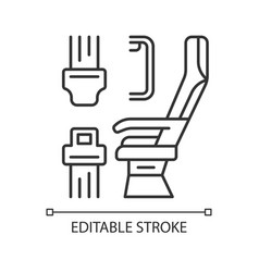 Seat belt linear icon vector