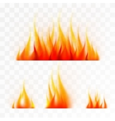 set isolated flames vector image