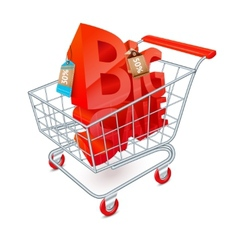 Shopping cart sale emblem vector
