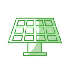 Solar energy panel icon vector