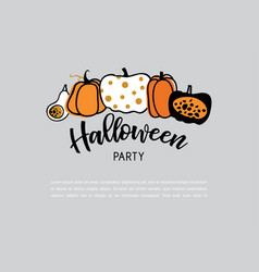 spooky header or banner with glitter halloween vector image