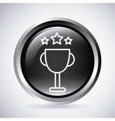 Trophy button Silhouette icon design vector